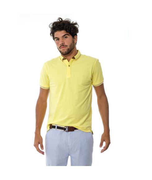 Polo-Lisa-Sem-Bolso-Com-Detalhe-Em-Couro