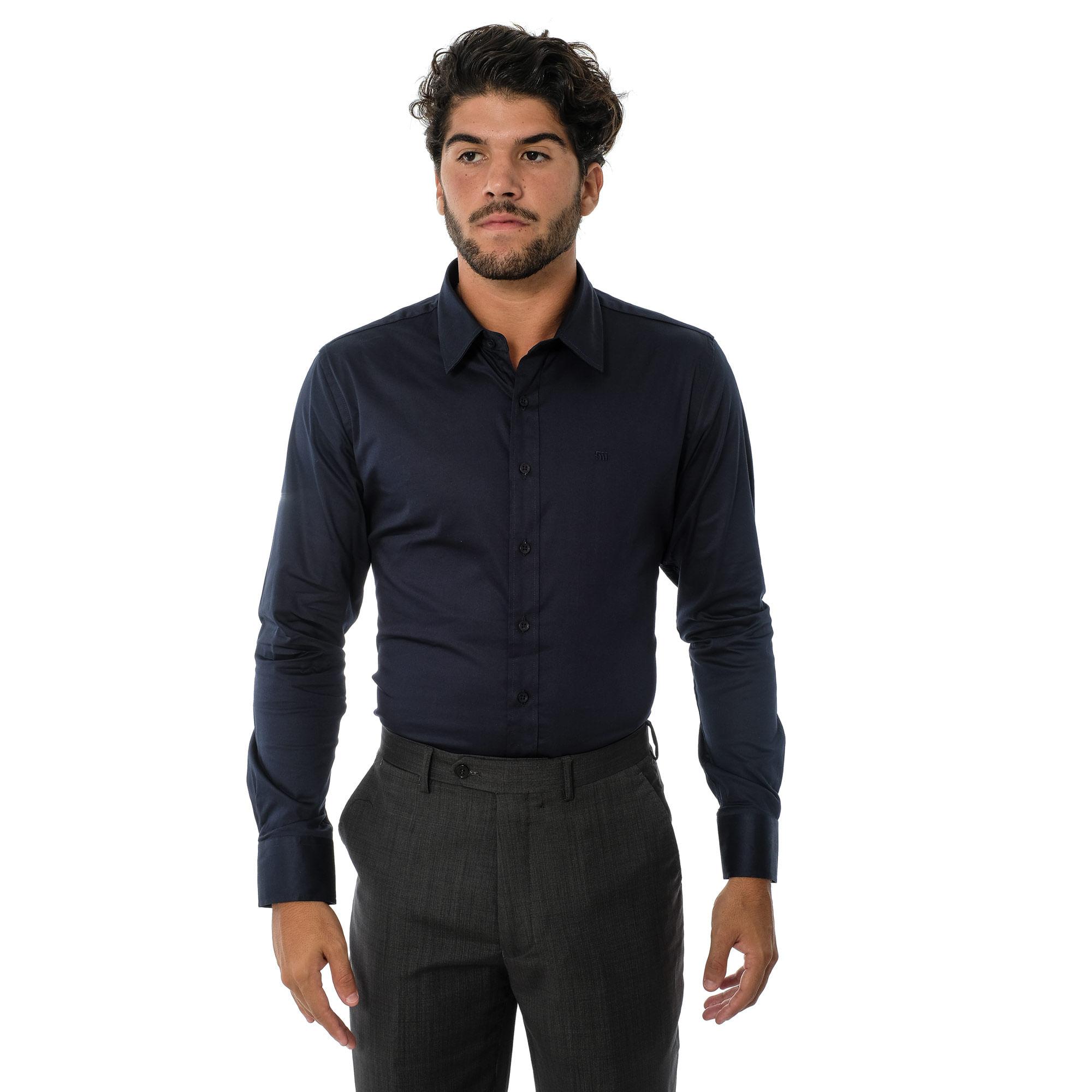 319beeb87 Camisa Social ML Acetinada - lojafattoamano