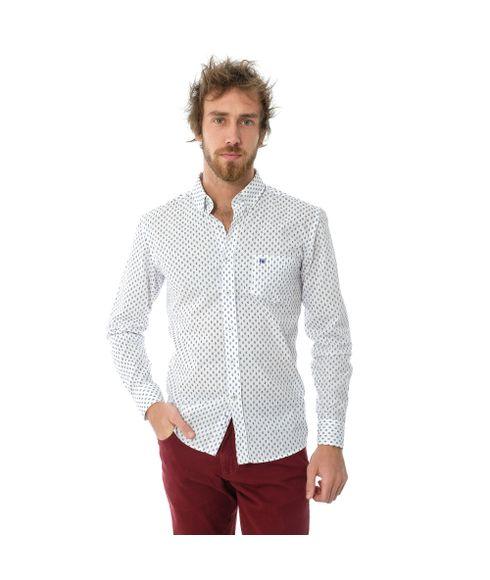 Camisa-Manga-Longa-Casual-Estampada-Com-Bolso