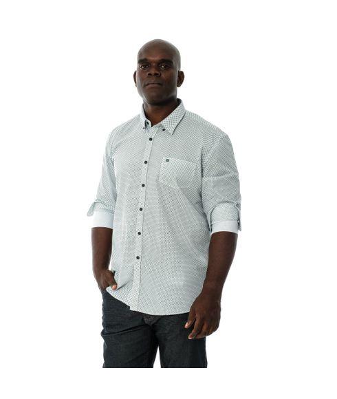 Camisa-Manga-Longa-Casual-Com-Bolso-Estampada