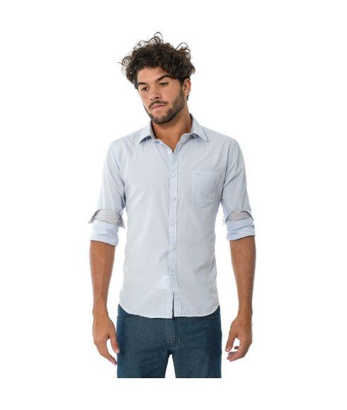 Camisa-Social-Com-Bolso-Manga-Longa