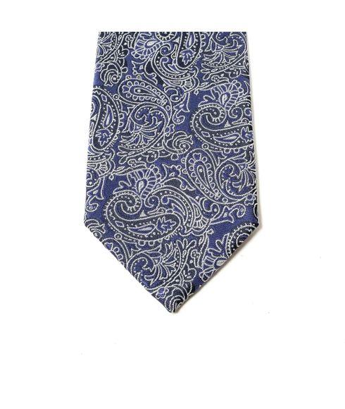Gravata-estampada-tradicional-azul-arabesco