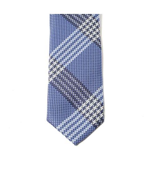 Gravata-Slim-Xadrez-Azul
