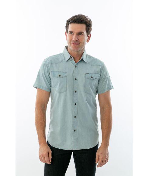849d3d956 Camisa Social Masculina Manga Curta