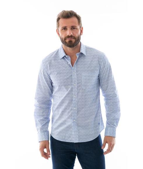 Camisa-Estampada-Casual-Manga-Longa