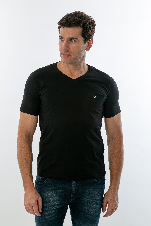 0cf2f48cb4 Camiseta Básica Masculina Gola V - lojafattoamano